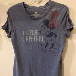 Disney Park Mickey cold shoulder T-shirt size L